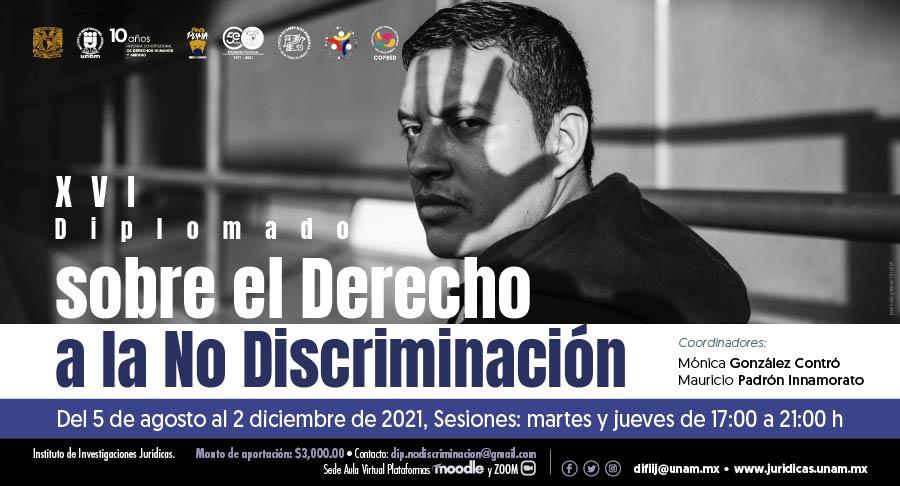 EN AGENDHA | XVI Diplomado sobre el Derecho a la No Discriminación