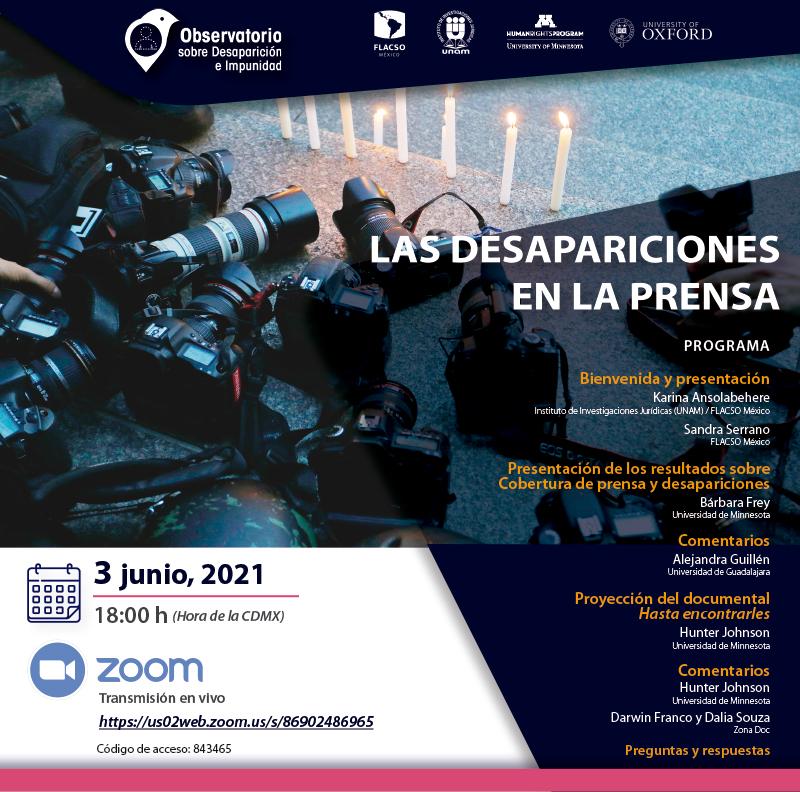 EN AGENDHA | Presentación: Las Desapariciones en la Prensa