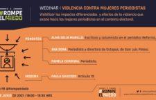 EN AGENDHA   Webinar: Violencia contra mujeres periodistas