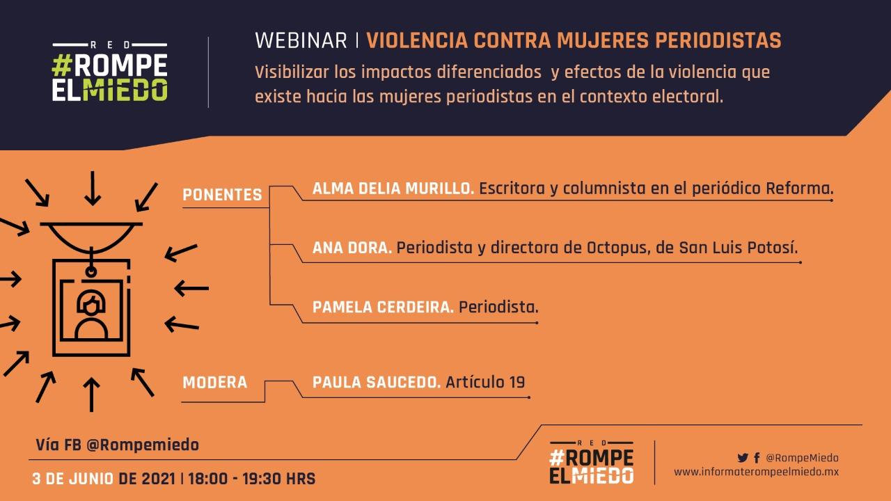 EN AGENDHA | Webinar: Violencia contra mujeres periodistas