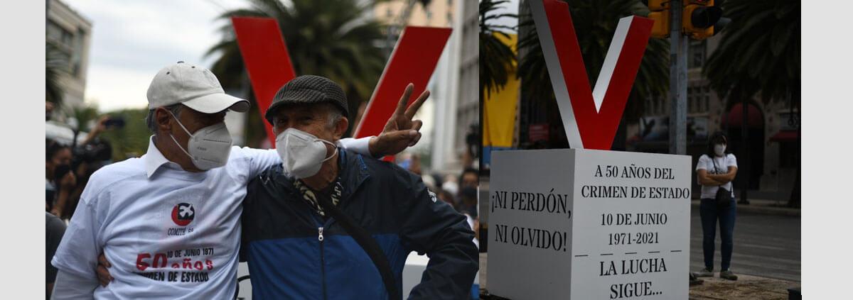 IMAGEN DEL DÍA   Antimonumento y escrache para protestar por la impunidad en el Halconazo