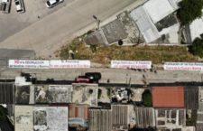 IMAGEN DEL DÍA | Protestan en visita de AMLO por desalojo de familias por trazo del Tren Maya
