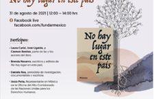 """EN AGENDHA   Presentación del libro """"No hay lugar en este país"""""""