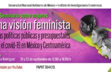EN AGENDHA | VIII Seminario sobre mujeres. Una visión feminista de las políticas públicas y presupuestales ante el Covid-19 en México y Centroamérica