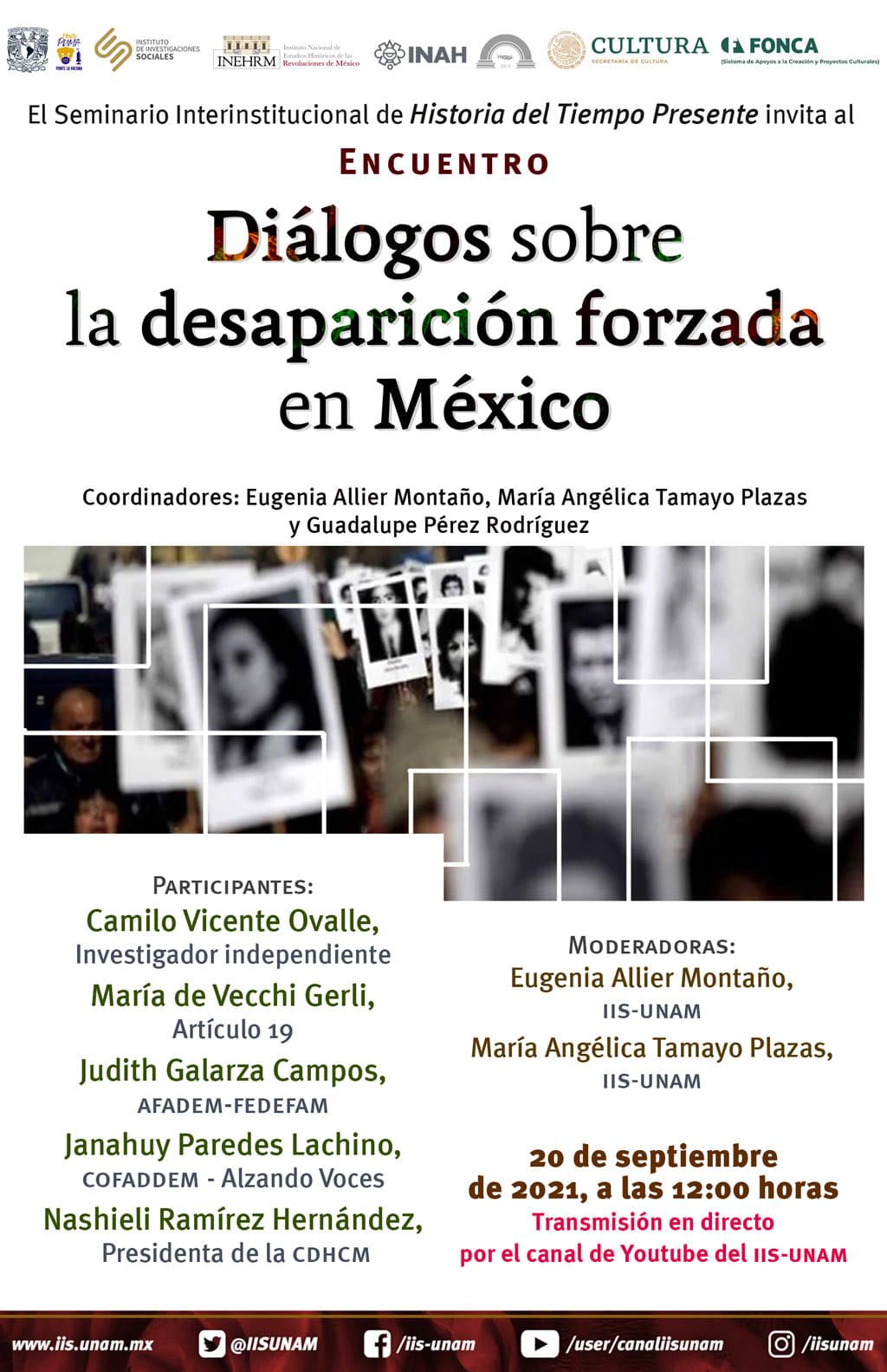 EN AGENDHA   Diálogos sobre la desaparición forzada en México