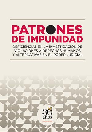 Portada del informe Patrones de Impunidad