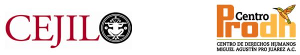 Logos CEJIL y Centro Pro D H